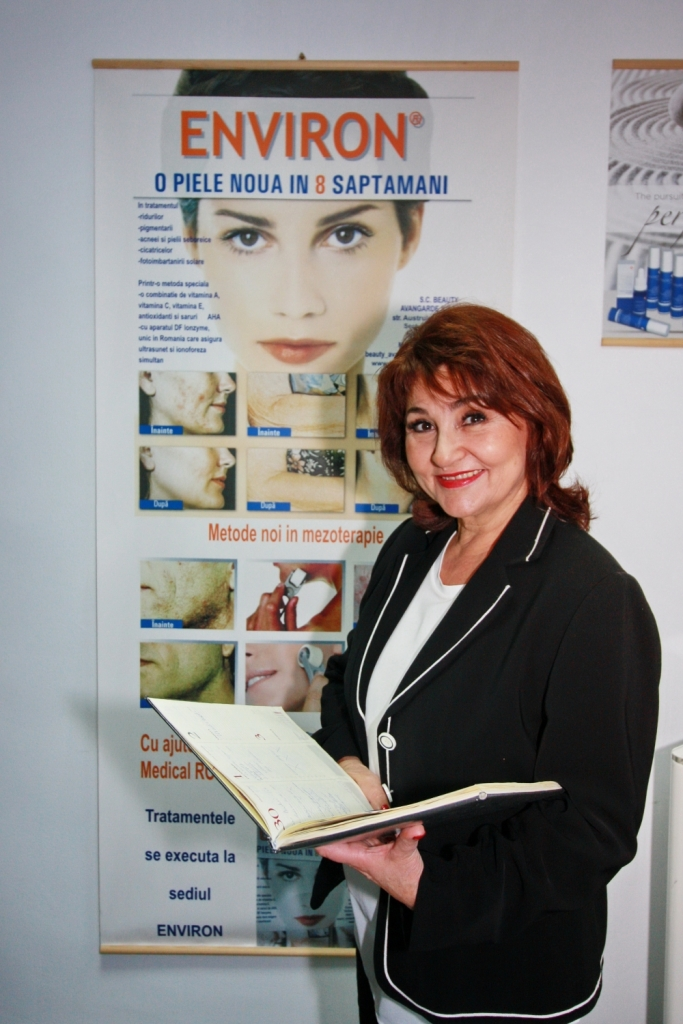 Dora Heiman, cosmetician Environ